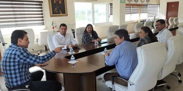Reunión con el Dr. Alberto López Celis, magistrado presidente del Tribunal Superior de Justicia