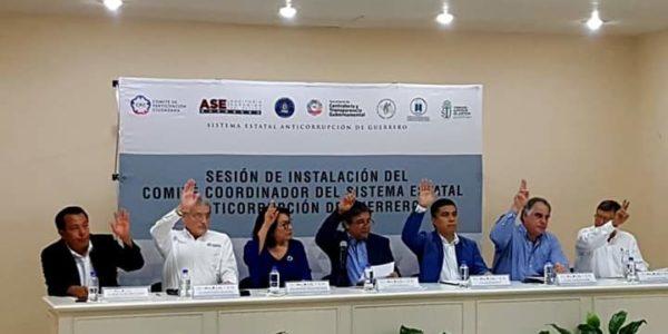 Instalación del Comité Coordinador del Sistema Estatal Anticorrupción de Guerrero