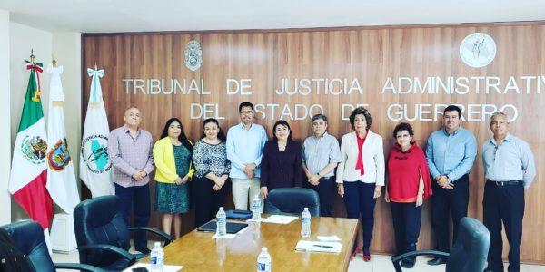 Reunión con la Presidenta del Tribunal de Justicia Administrativa