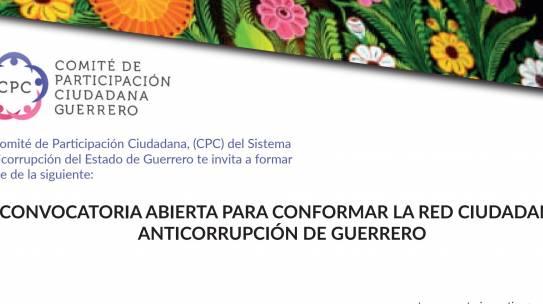 Convocatoria abierta para conformar la Red Ciudadana Anticorrupción de Guerrero
