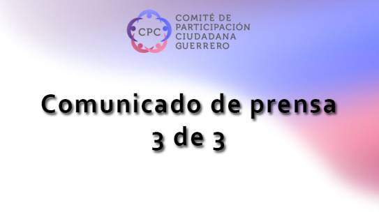 Comunicado de prensa 3de3